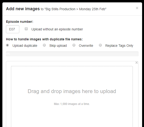 Photographer image upload process