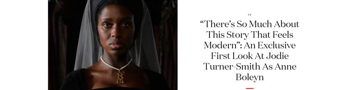 Screen shot from British Vogue online showcasing an article about new TV series Anne Boleyn