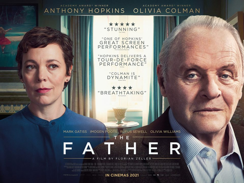 Cinematic poster for the movie, The Father